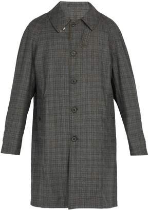 Lanvin Reversible wool and cotton-blend raincoat