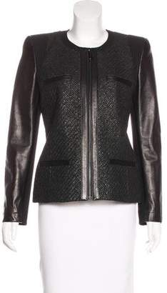 Barbara Bui Leather-Accented Structured Jacket