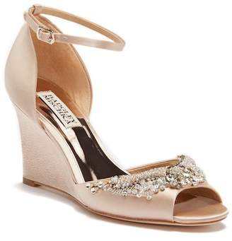 Badgley Mischka Malorie Embellished Wedge Sandal