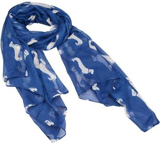 Eudora Harmonyshop Eudora Fashion Animal Dachshund Dog Print Scarf Pashmina Women Scarves