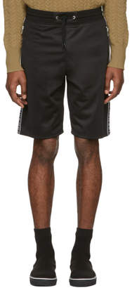 Givenchy Black Reflective Bands Shorts
