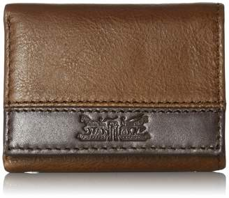 Levi's Men's 100% Handcrafted Genuine Leather Trifold Wallet