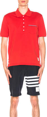 Thom Browne Short Sleeve Polo Shirt