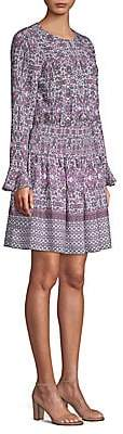 Shoshanna Women's Alina Bell-Sleeve Silk Dress - Size 0