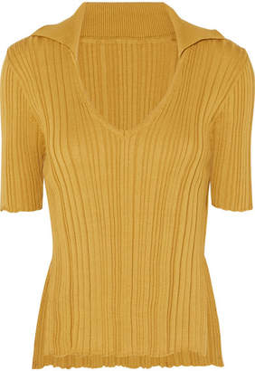 Jacquemus Marinheiro Ribbed Cotton Sweater - Yellow