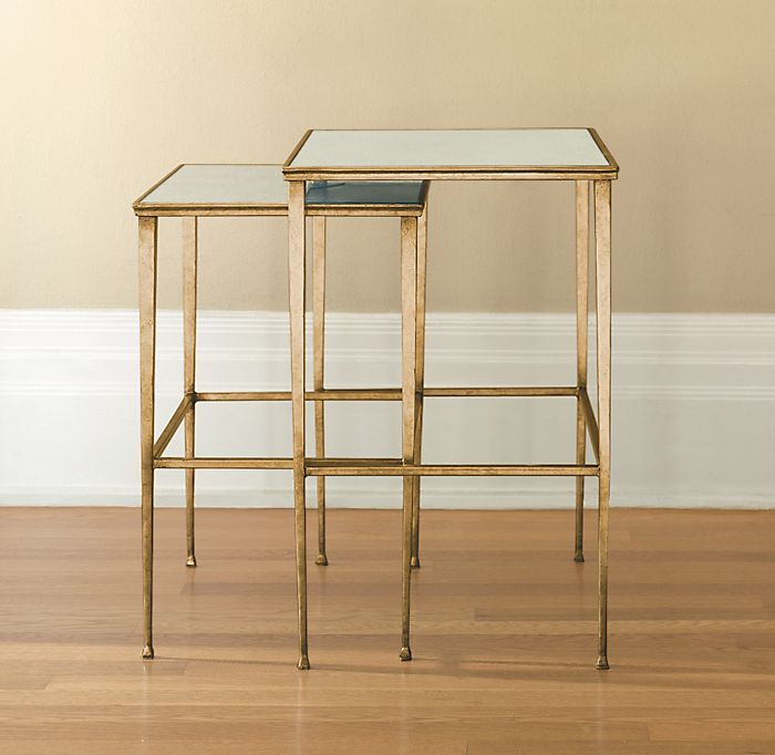 Lucia Nesting Tables Antique Brass