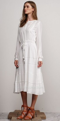 Adelyn Rae Long Sleeve Chelsea Midi Shirt Dress $125 thestylecure.com