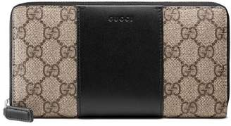 Gucci GG Supreme zip around wallet