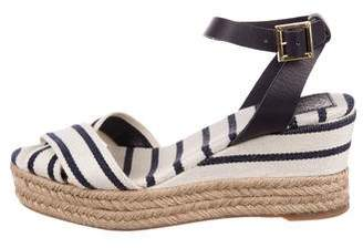 ba521010f74 Pre-Owned at TheRealReal · Tory Burch Striped Wrap-Around Sandals