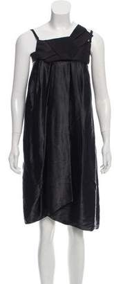 Lanvin Pleated Satin Dress