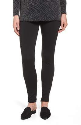 Chaus Zip Ankle Ponte Knit Leggings