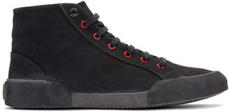 Lanvin Black Canvas Mid Sneakers