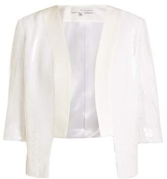 Galvan - Salar Sequin Embellished Jacket - Womens - White