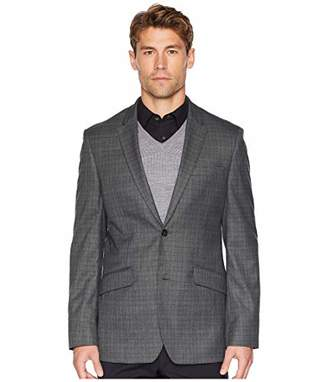 Perry Ellis Men's Slim Fit Washable Plaid Suit Jacket