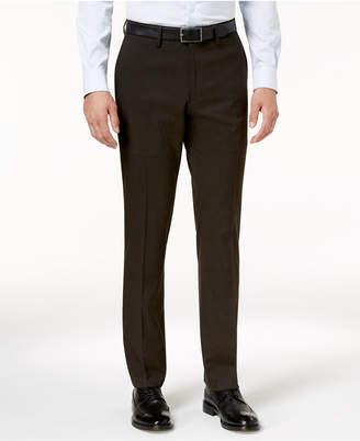 Kenneth Cole Reaction Men's Slim-Fit Stretch Glen Plaid Dress Pants