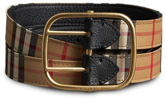 Burberry Vintage Check and Leather Double-strap Belt