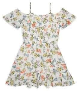 Ella Moss Girl's Fit-&-Flare Lace Dress