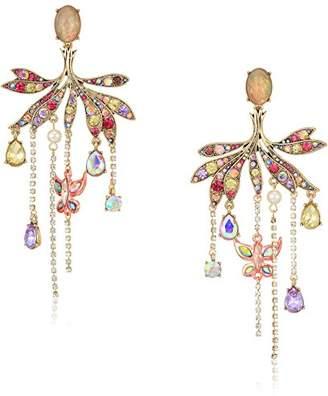 Betsey Johnson Womens Blooming Betsey Butterfly Chandelier Drop Earrings
