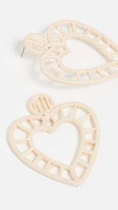BaubleBar Renata Rafia Heart Earrings