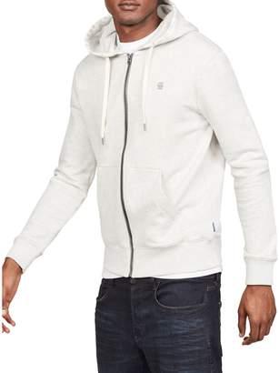 G Star Raw Graphic 8 Core Full-Zip Cotton-Blend Hoodie