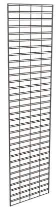Econoco Metal Slat Grid for Any Retail Display or Home Storage, 2 Width x 8 Height, 3 Grids Per Carton (Black)