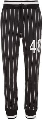 Dolce & Gabbana Baseball Stripe Sweatpants