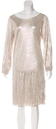 Alexis Metallic Pleated Dress