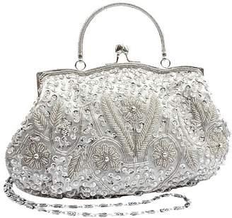MG Collection Myra Beaded Evening Bag