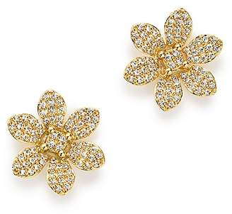 Bloomingdale's Diamond Flower Stud Earrings in 14K Yellow Gold, 0.50 ct. t.w. - 100% Exclusive