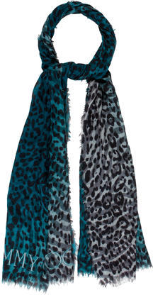 Jimmy ChooJimmy Choo Cashmere Leopard Scarf