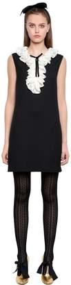Philosophy di Lorenzo Serafini Ruffled Lace Stretch Viscose Cady Dress