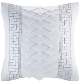 Natori White Orchid Square Pillow