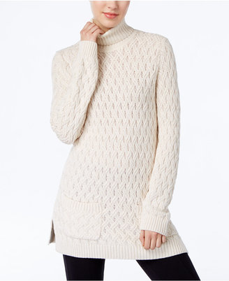 Jeanne Pierre Cable-Knit Fisherman Tunic Sweater $70 thestylecure.com