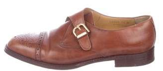 Bruno Magli Leather Monk Strap Shoes