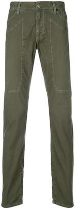 Jeckerson contrast stitch straight leg trousers