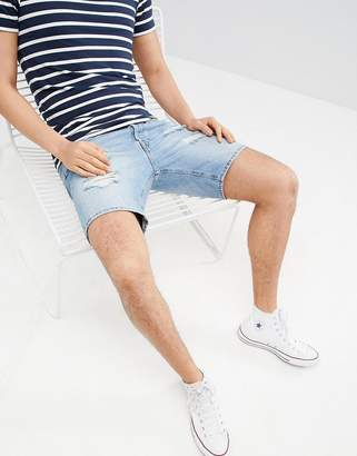 Jack and Jones Denim Shorts With Rip Detail