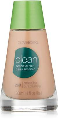 Cover Girl Clean Sensitive Skin Liquid Makeup, Classic Tan (W) 260, 1.0-Ounce Bottles (Pack of 2)