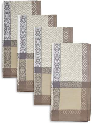 Sur La Table Viana Taupe Jacquard Napkins, Set of 4