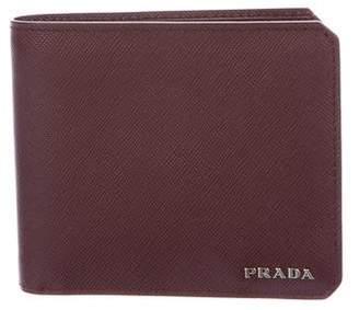 82a062779a5dd5 spain prada daino lambskin leather tote 3e0e4 ce6f7; uk pre owned at  therealreal prada saffiano corner bifold wallet 1ce13 489e0