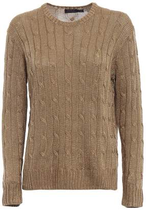 Polo Ralph Lauren Gold Lurex Viscose Yarn Sweater