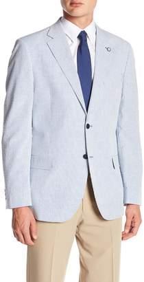 Nautica Blue Stripe Two Button Notch Lapel Classic Fit Sport Coat