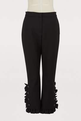 MSGM Ruffled wool pants
