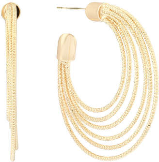 Liz Claiborne Gold-Tone Textured Hoop Earrings