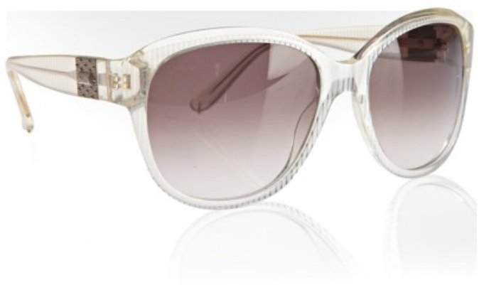 Chloe ivory striped plastic oversized sunglasses