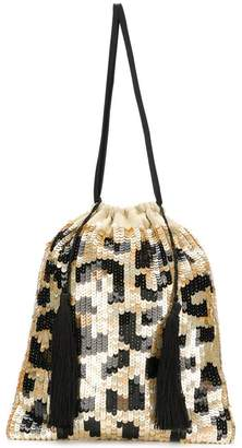 ATTICO sequined leopard pouch bag