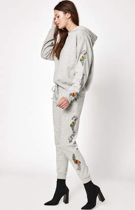 LA Hearts Butterfly Embroidered Jogger Pants