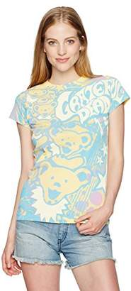 Liquid Blue Women's Grateful Dead Bubble Gum Bears All Over Print Graphic Tee