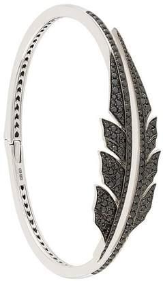 Stephen Webster 18kt gold open diamond feather bracelet
