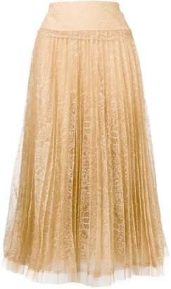 32d49d8d6 Ermanno Scervino pleated lace skirt