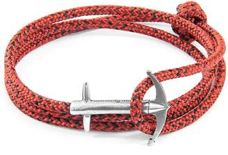 ANCHOR & CREW - Red Noir Admiral Anchor Silver & Rope Bracelet